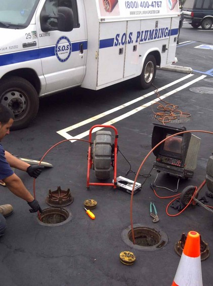 Trenchless Pipelining Commercial Building   SOS Plumbing Rooter